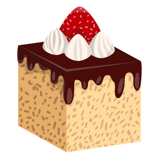 Cake slice png. Chocolate with strawberry transparent