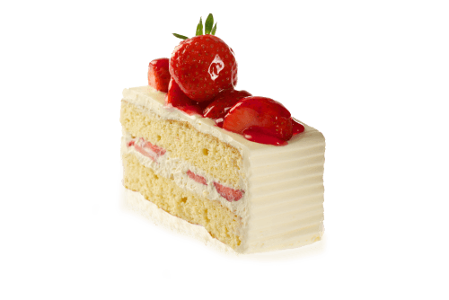 Cake slice png. Strawberry transparent stickpng