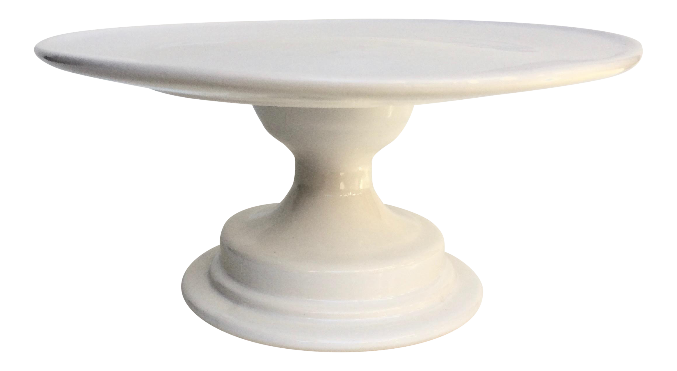 Cake stand png. Hand thrown white