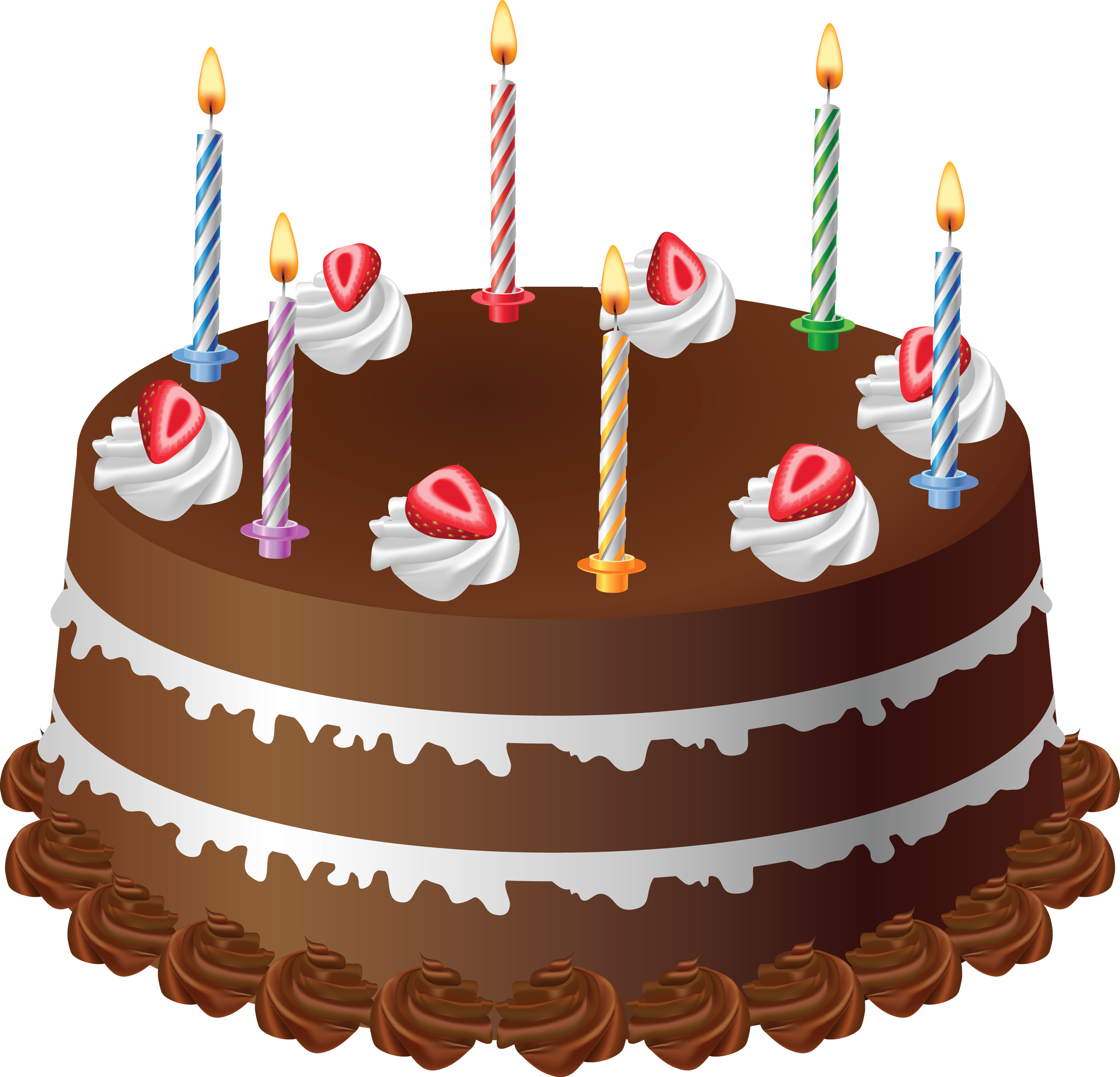 Birthday cake with candles png. Chocolate art large picture