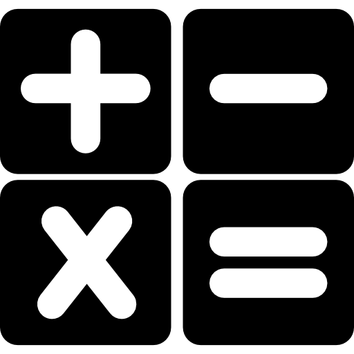 Calculator logo png. Buttons interface symbol free
