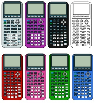Calculator clipart graphing. Printable and formats ti