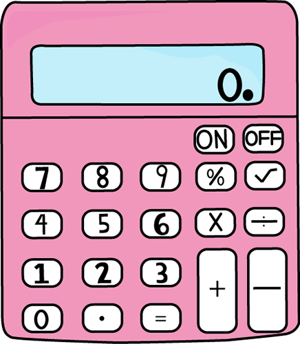 Calculator clipart school. Pink clip art vector