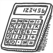 Calculator clipart school. Free