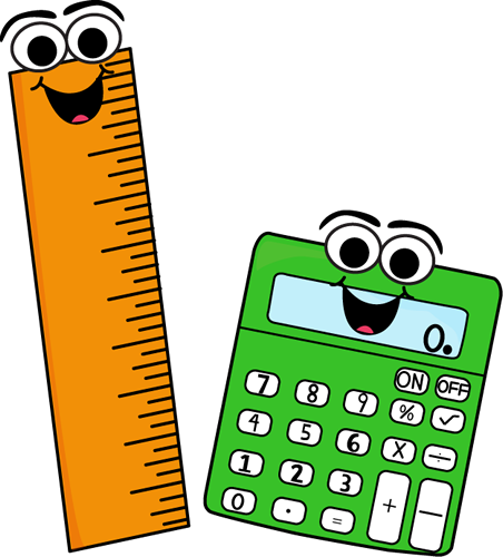 Calculator clipart school. Ruler and clip art