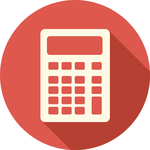 Calculator icon png. Long shadow media iconset