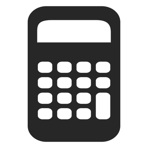 Calculator logo png. Flat icon transparent svg