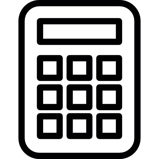 Calculator png icon. Maths free commerce icons