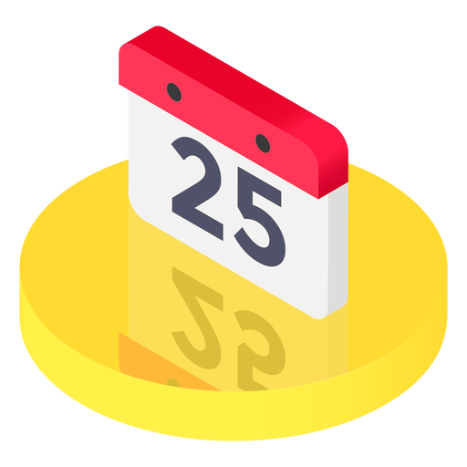Calendar icon png transparent. Isometric svg vector