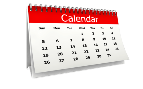 Calendar transparent png. Desk stickpng