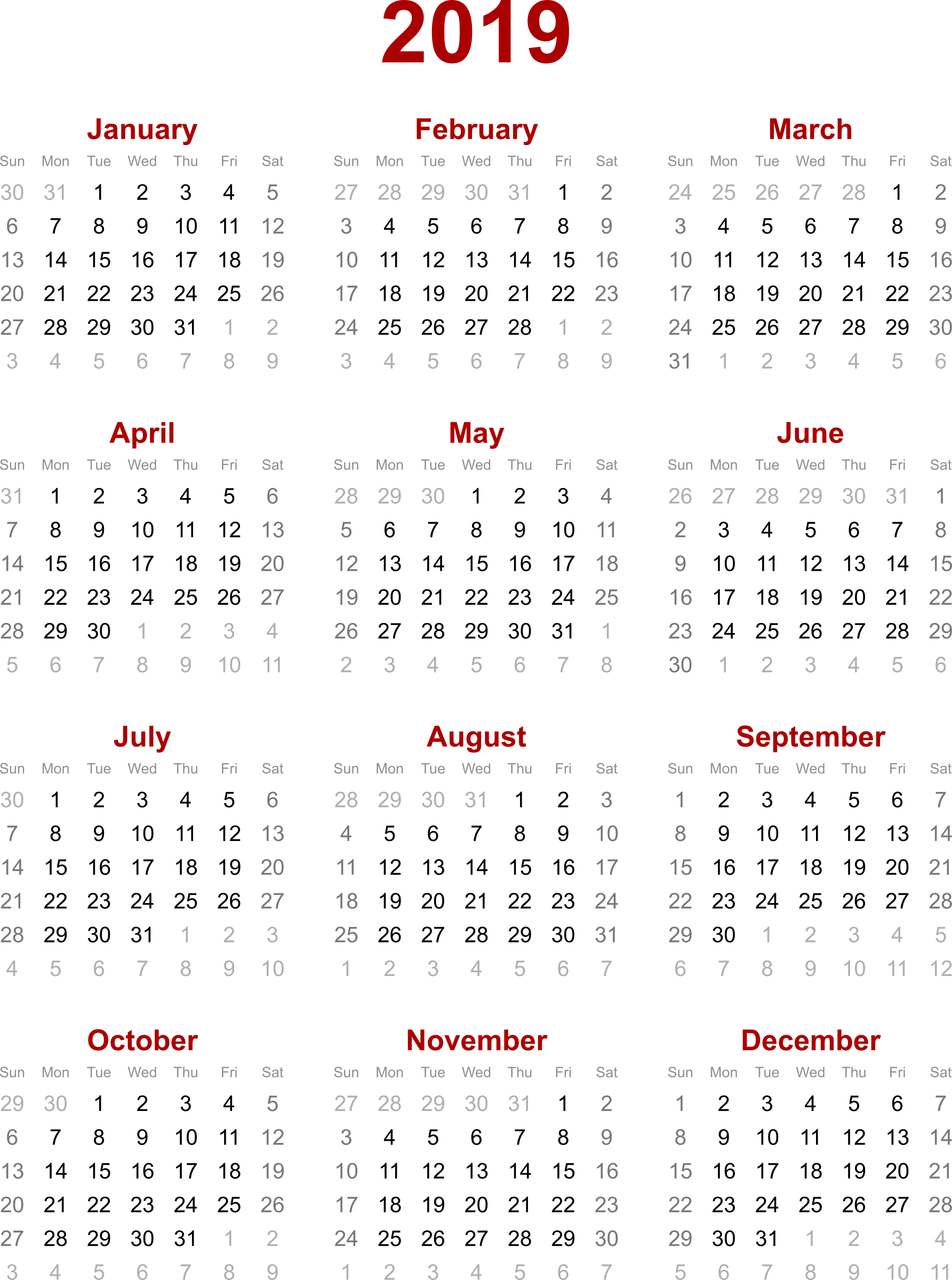 Calender vector calendar page. Yearly free download