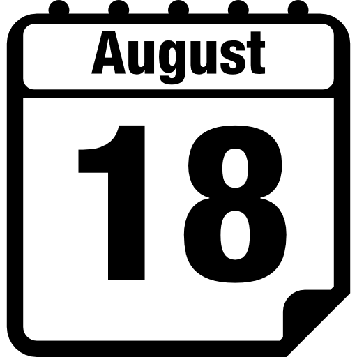 Calender vector calendar page. August daily interface symbol