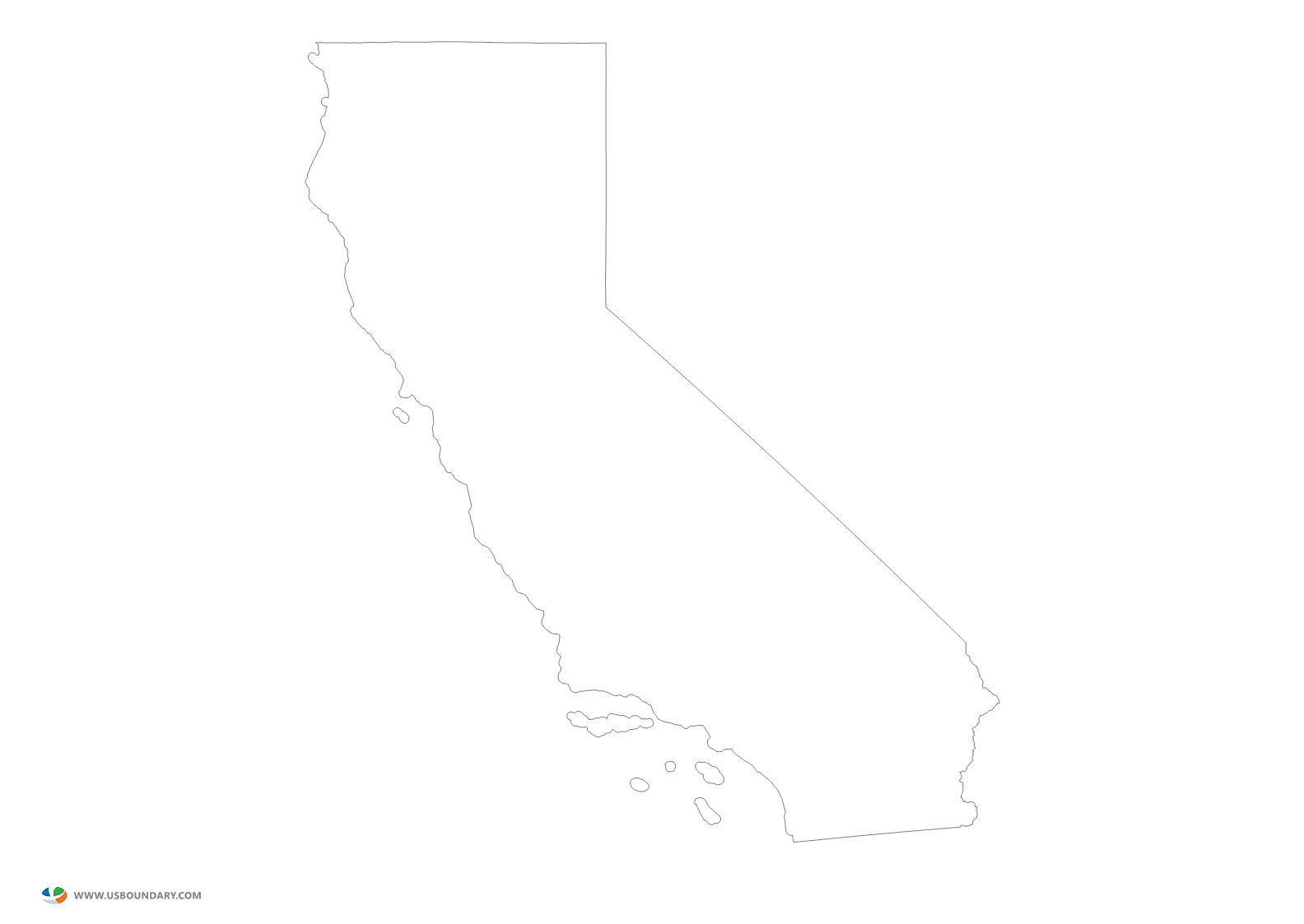 Calif transparent draw. State maps download california