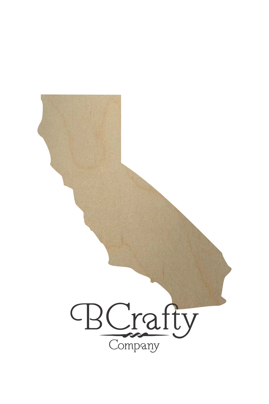 Calif transparent state shape. Wooden california wood cutout