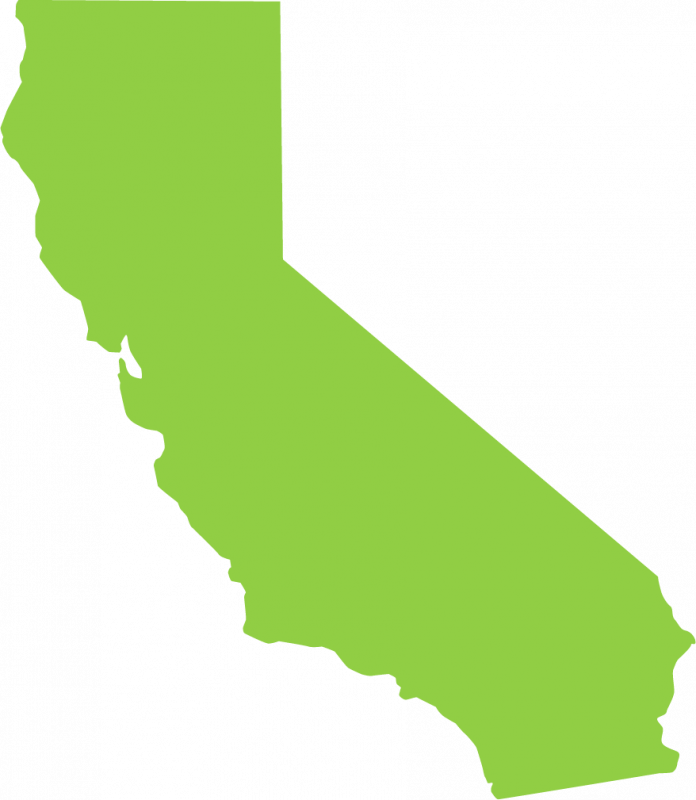 Calif transparent state shape. California green phoenix systems