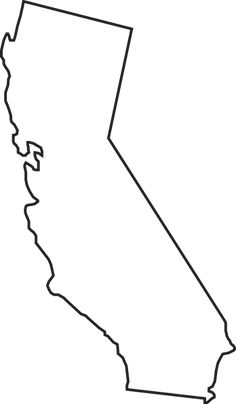 California clipart artistic. Gallery state outlines clip