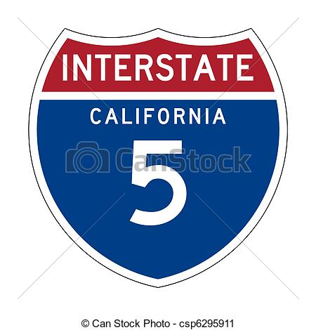 Interstate highway american csp. California clipart route sign svg free stock