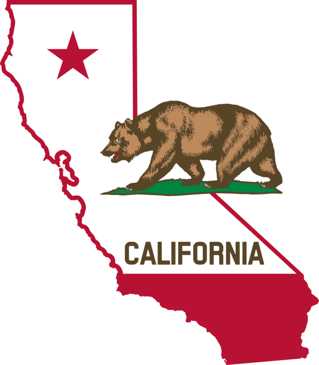 Transparent cali typeface. Flag of california common