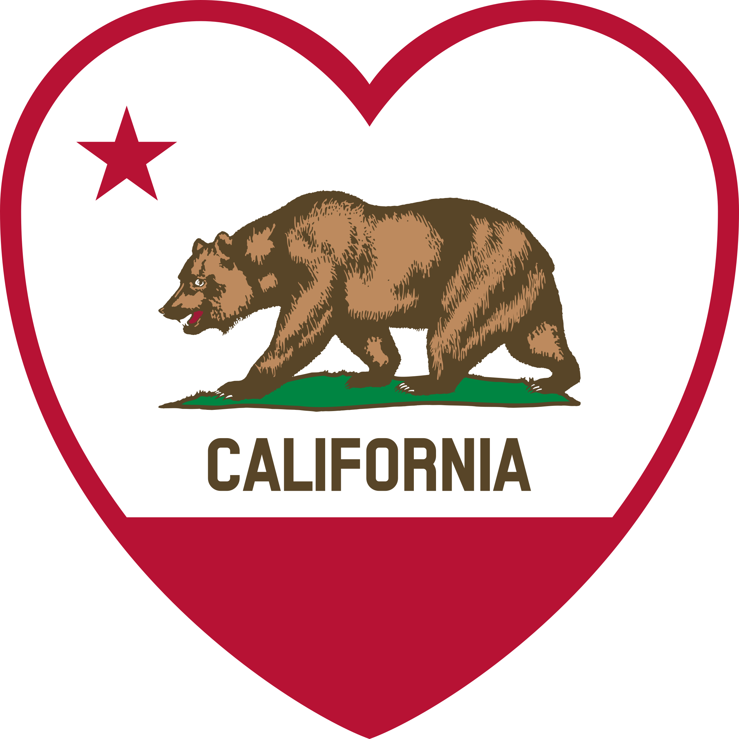 California flag png. Heart icons free and