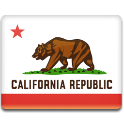 Flag american states iconset. Vector california icon clip library stock