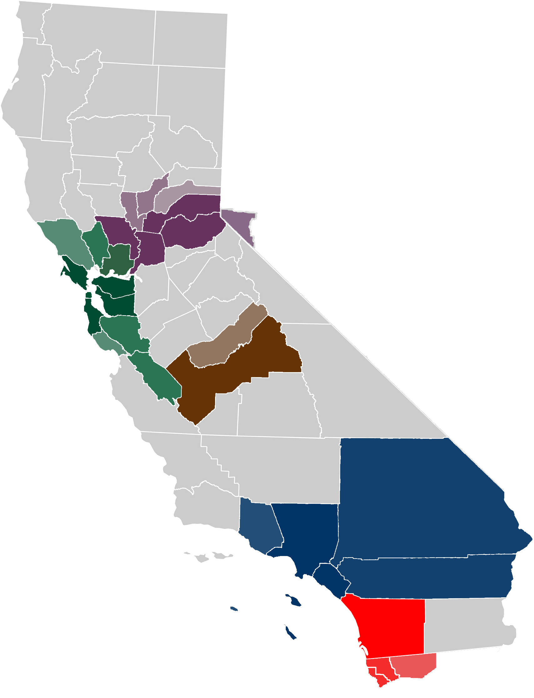 California map png. File extended metropolitan areas