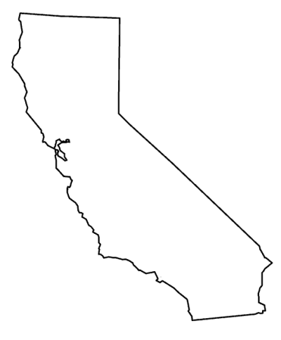 California outline png. Download transparent free image
