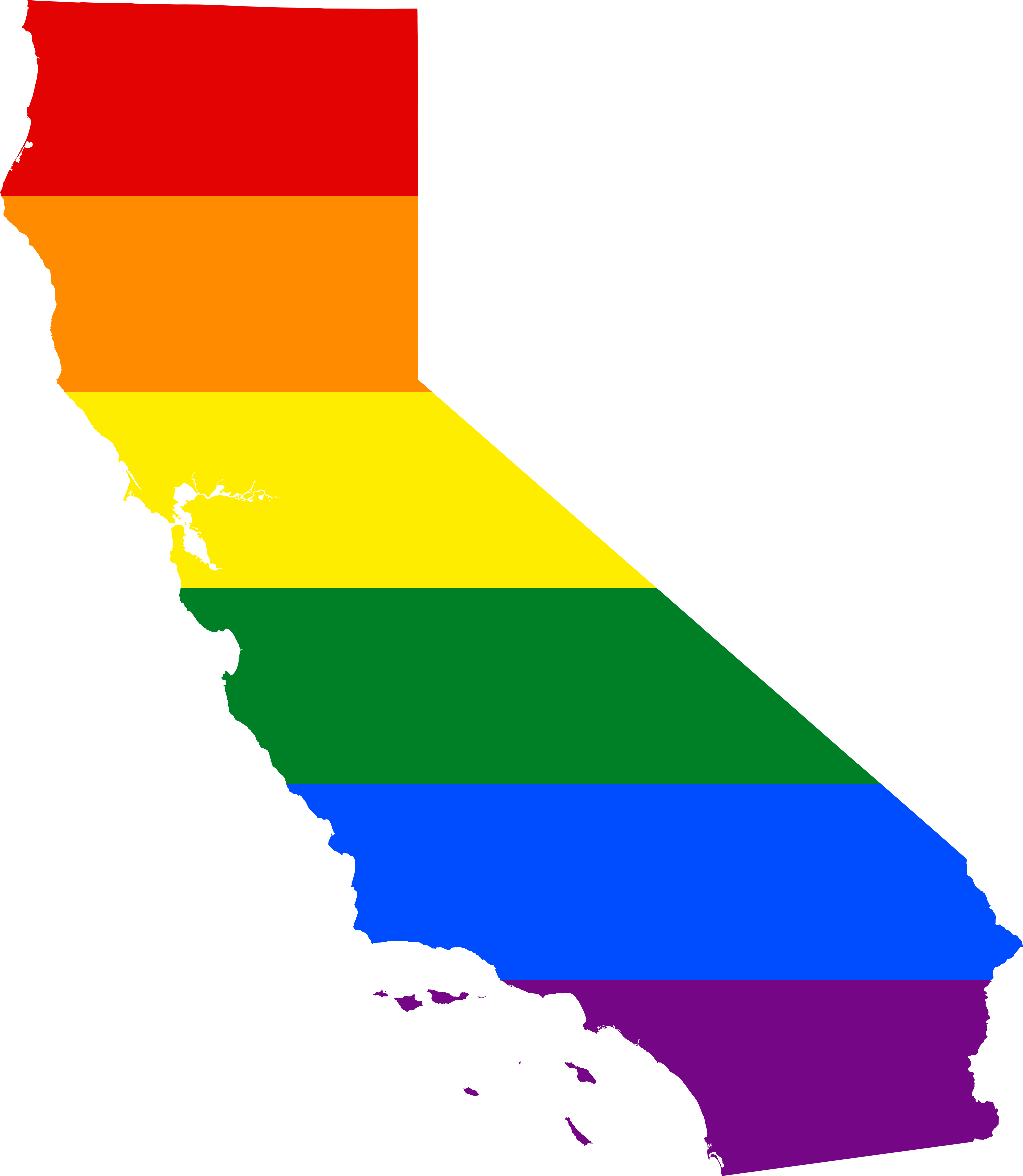 California outline png. File lgbt flag map