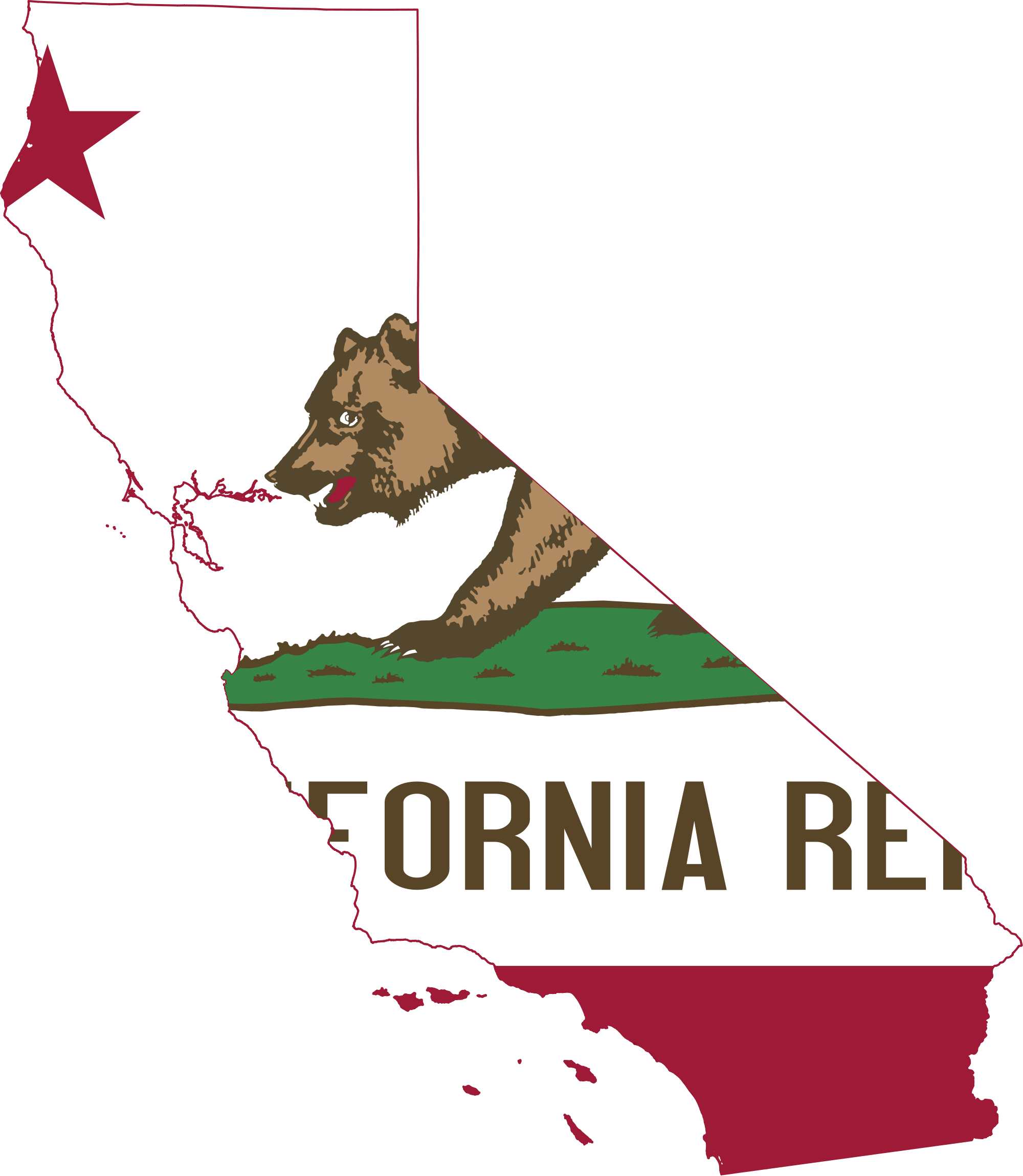 transparent california.com state background