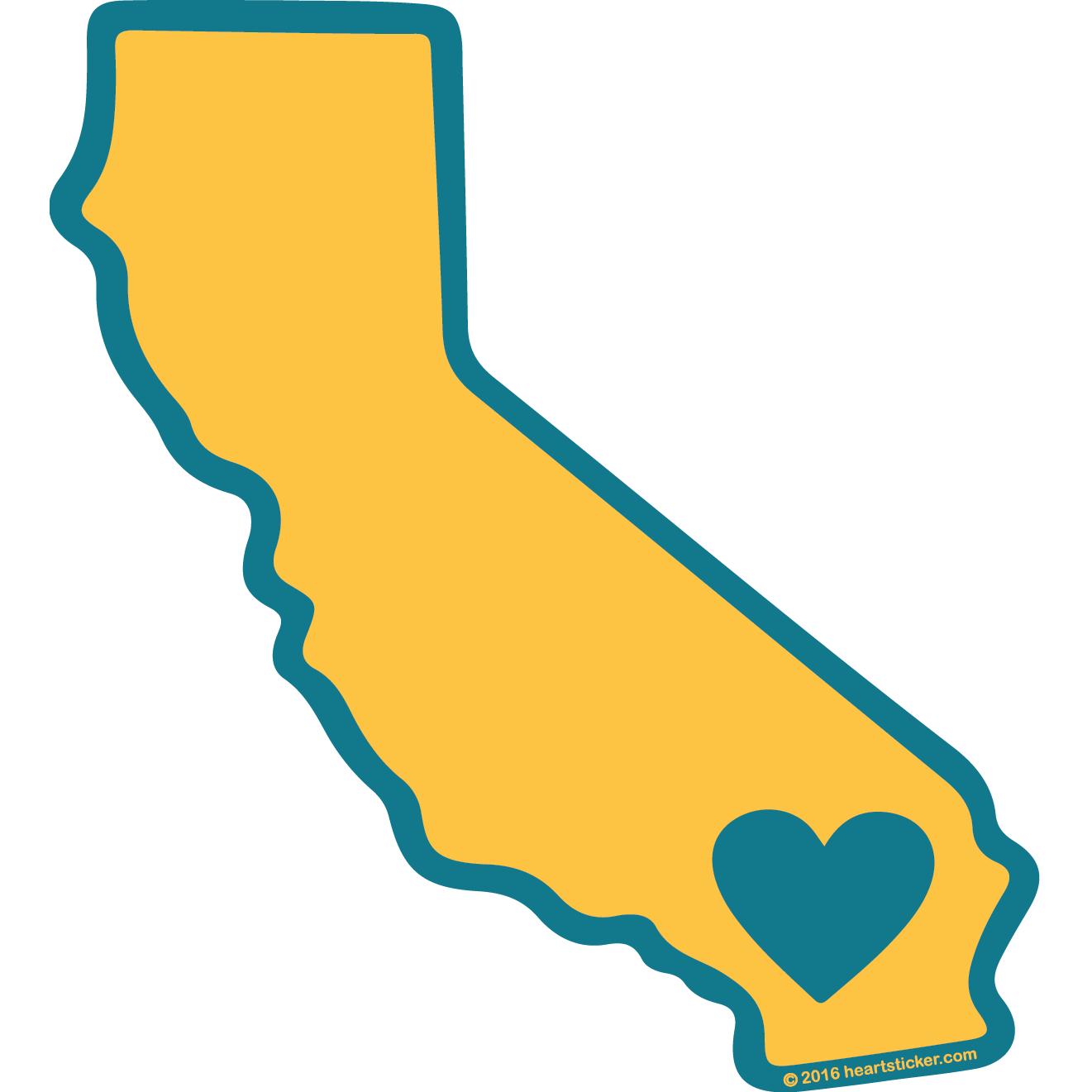 California shape png. Heart in show your