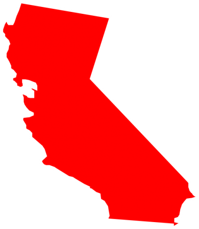 California map silhouette at. Transparent calif red image