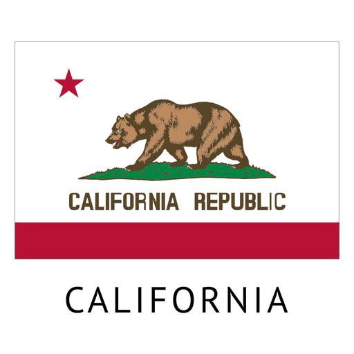California state flag png. Transparent svg vector
