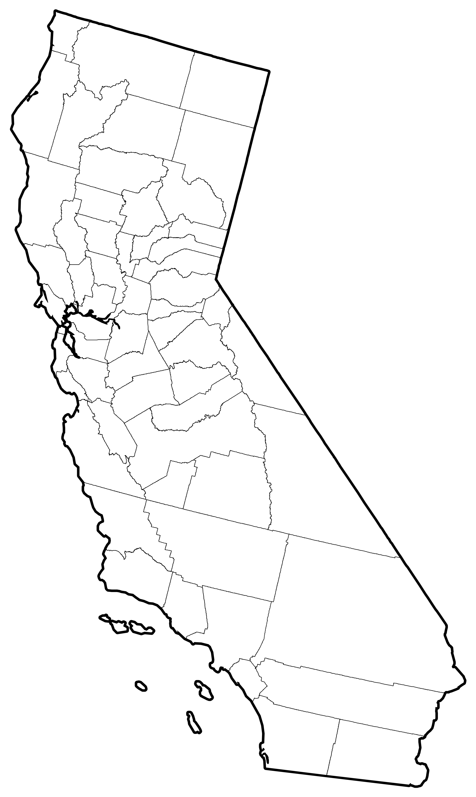 California state outline png. File counties map svg