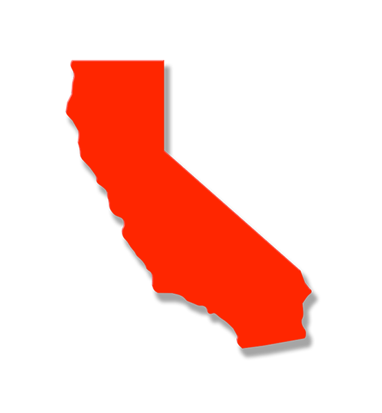 California state outline png. Statement wall art