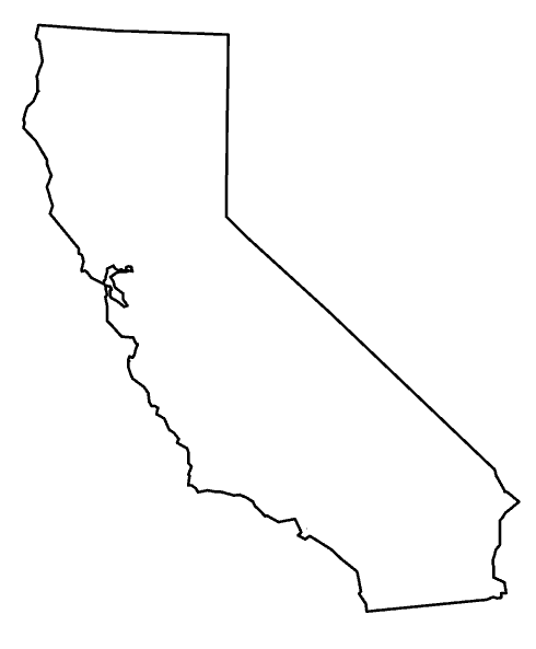 California state png. Outline transparentpng