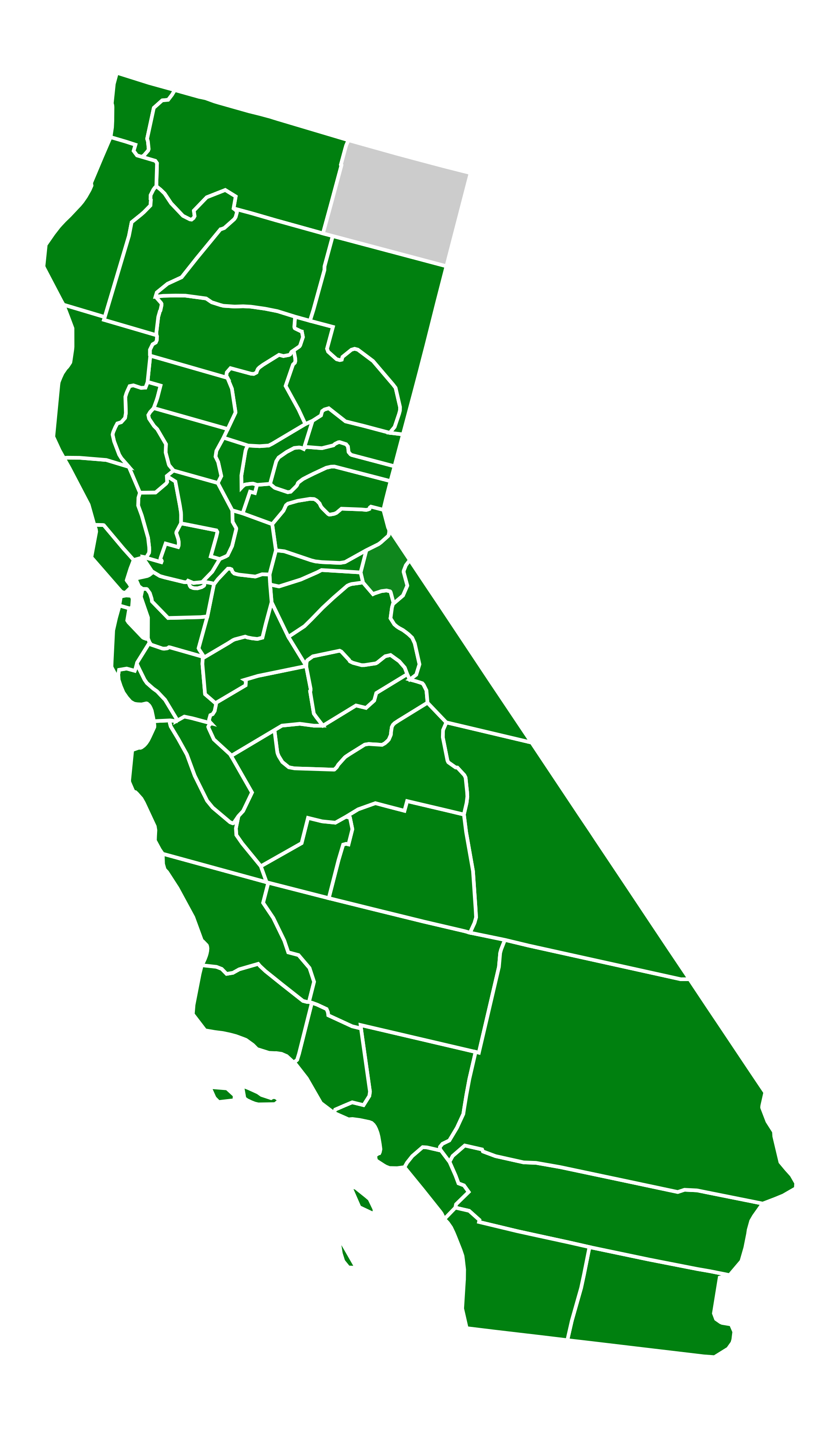 California svg shape. State of drawing at