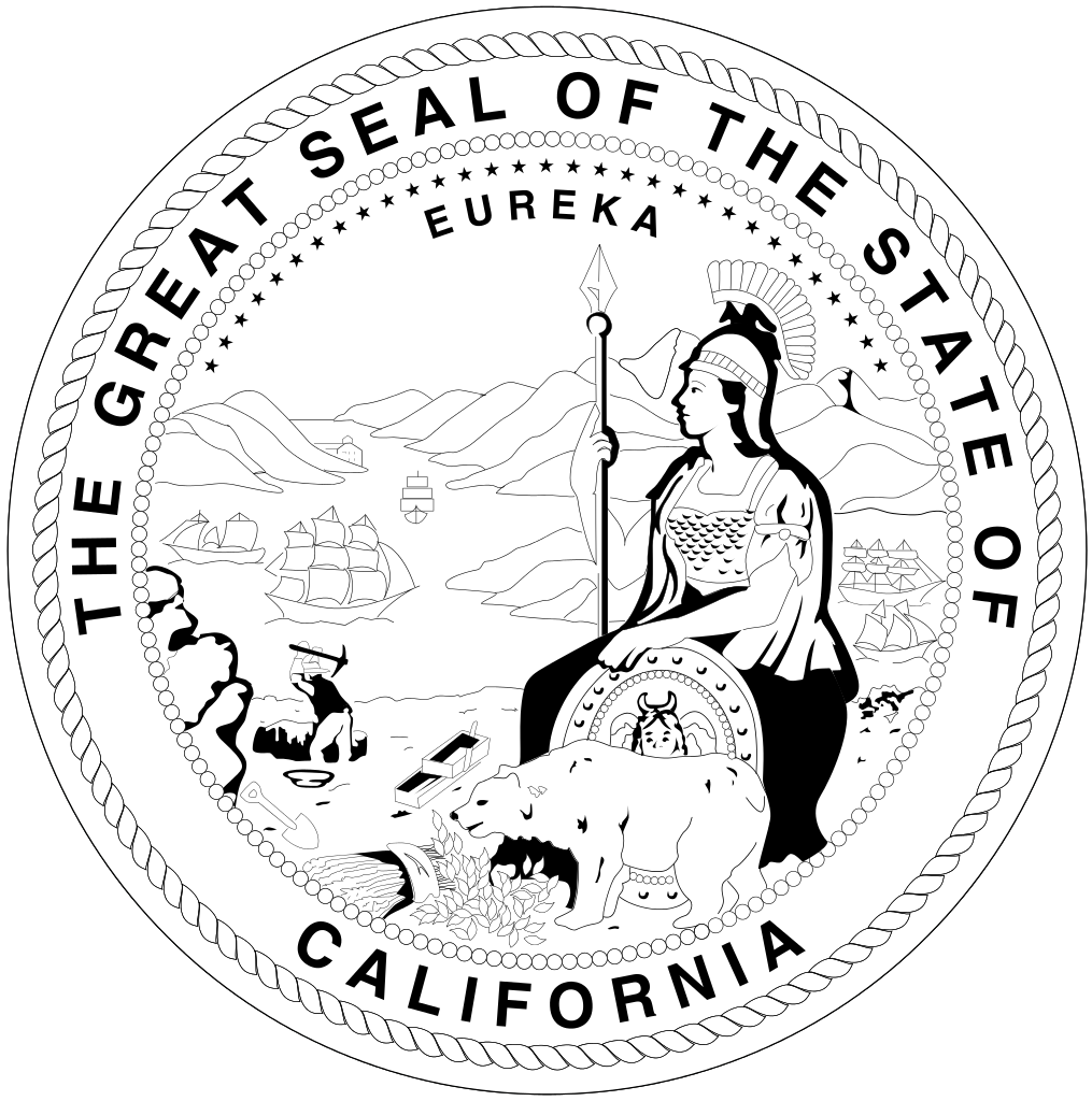 Transparent california.com white. File seal of california