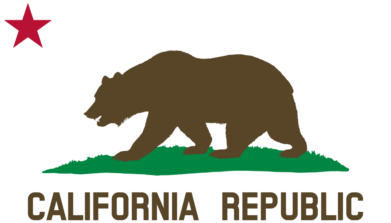 California svg flag. Republic grizzly bear of