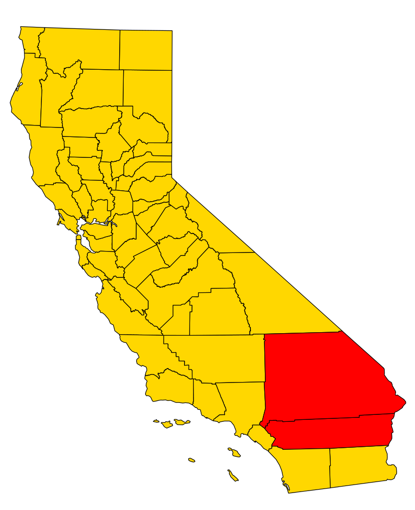 California svg gold. File county map inland