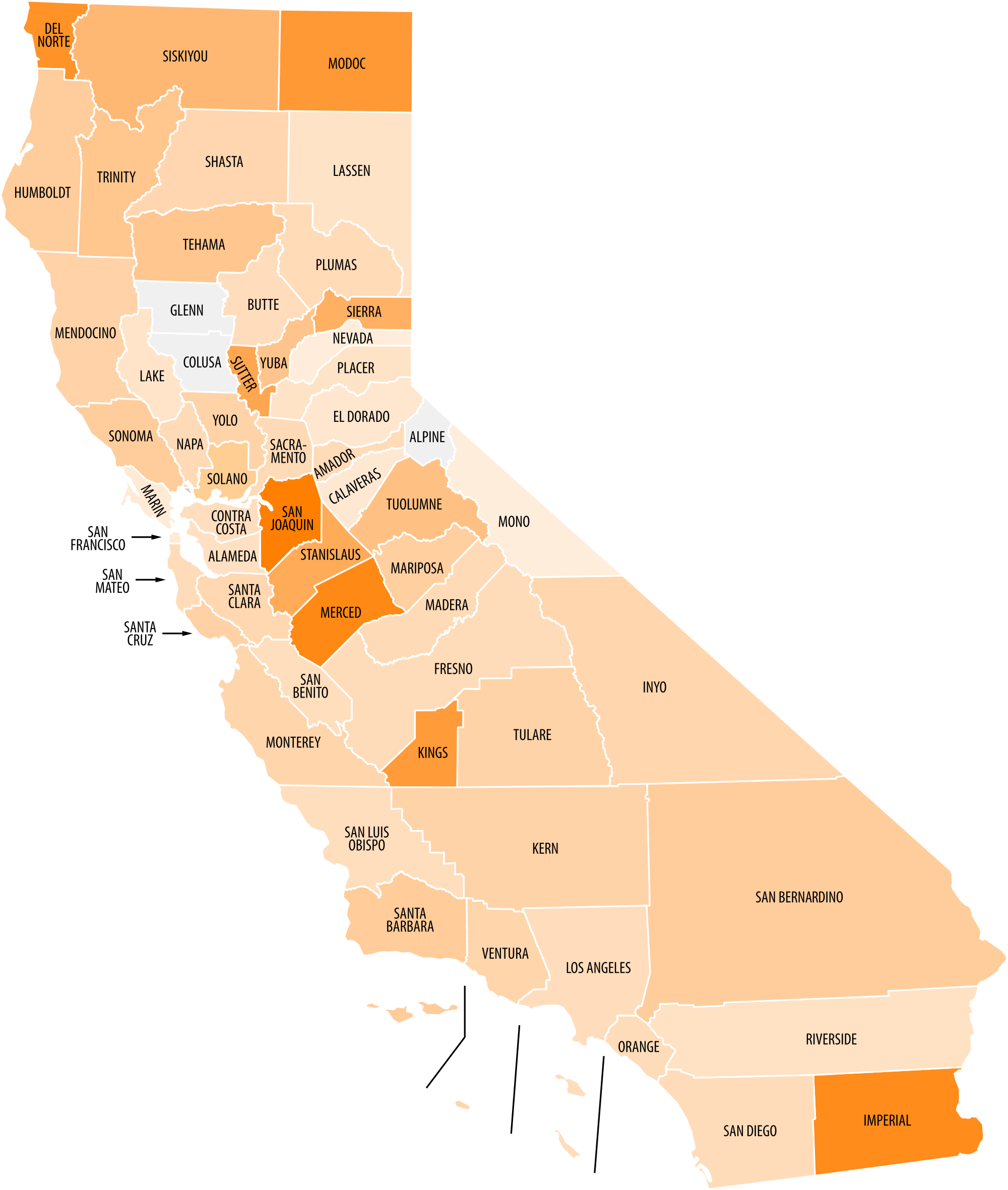 California svg labeled. File county map asp