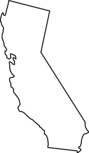 California svg outline. Done by suze at
