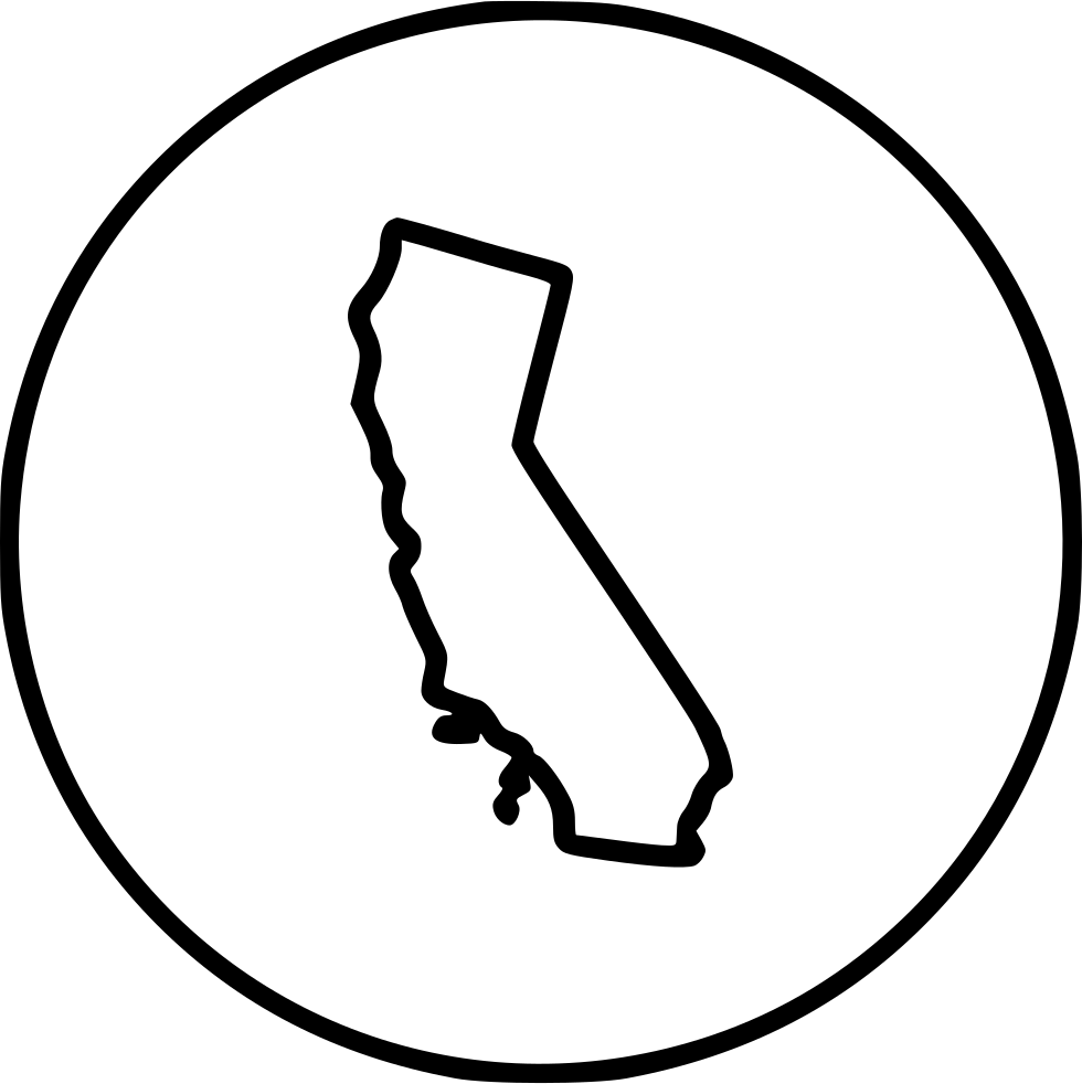 California svg black and white. Png icon free download