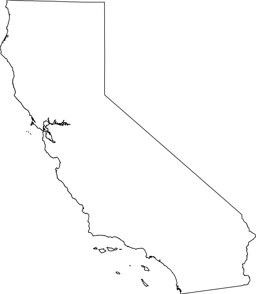California svg silhouette. Map png transparent images