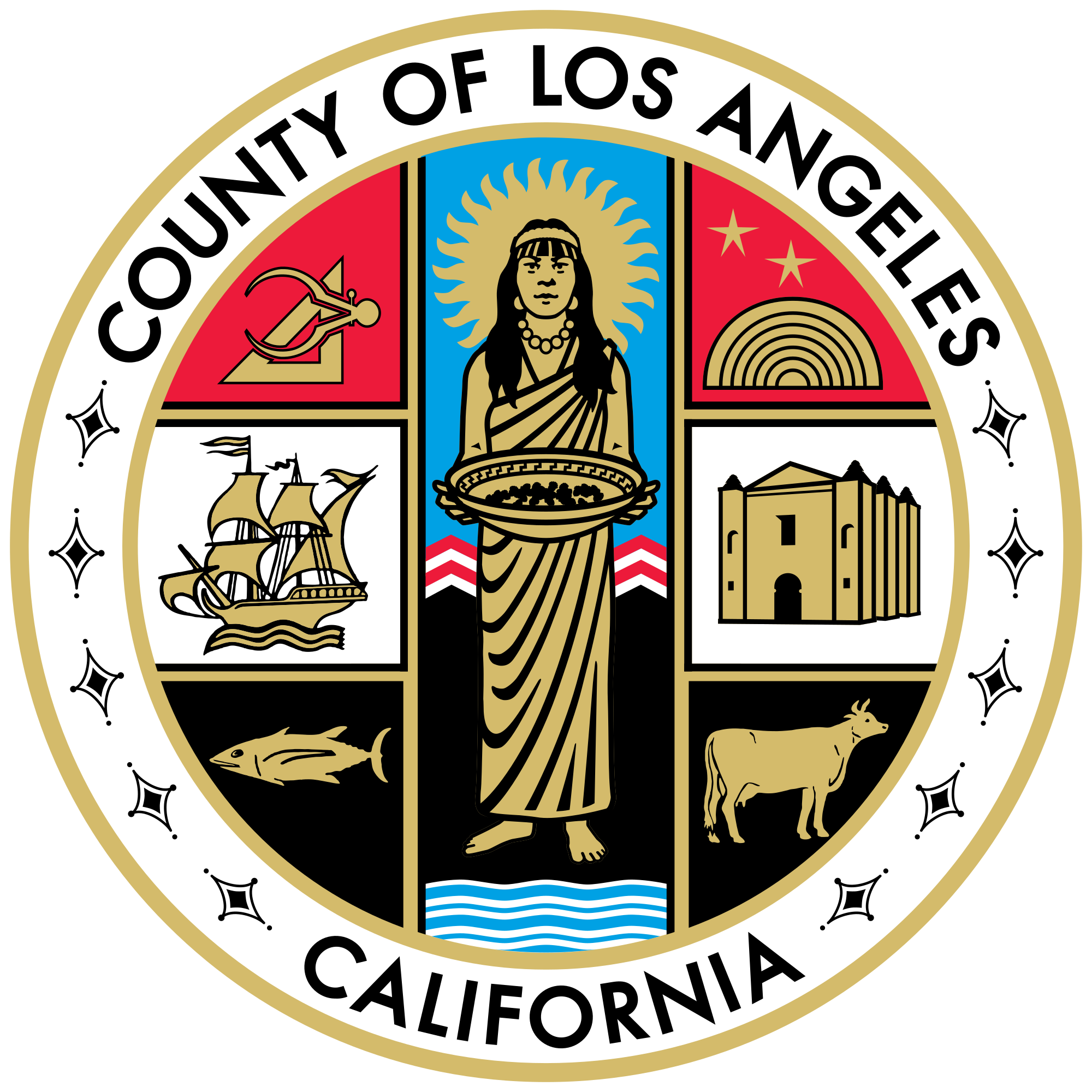 California svg state graphic. File seal of los