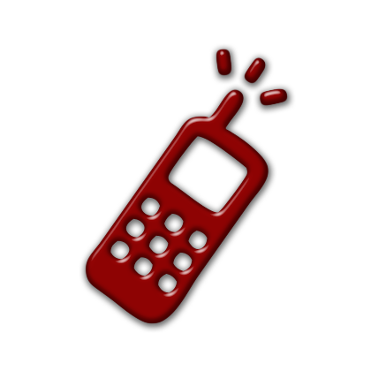 Cellphone clipart red. Cell phone call icon