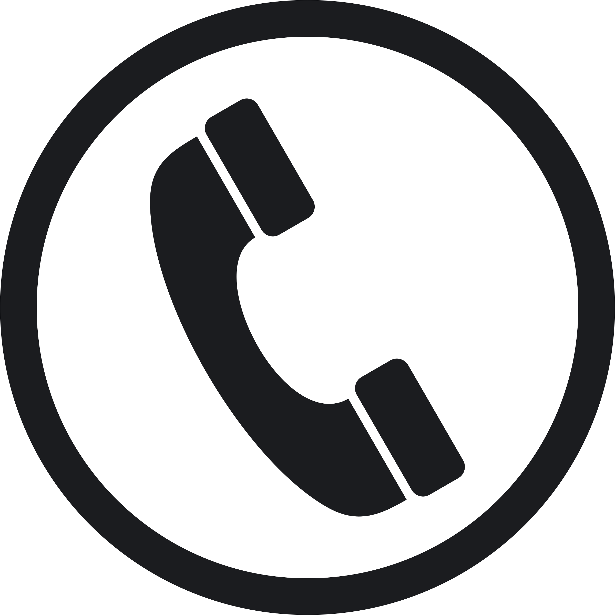 Vector interview phone. Technical graphic symbol types