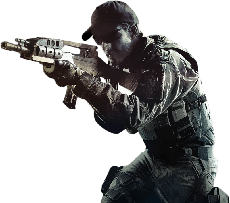 Transparent soldier gun png. Call of duty stickpng