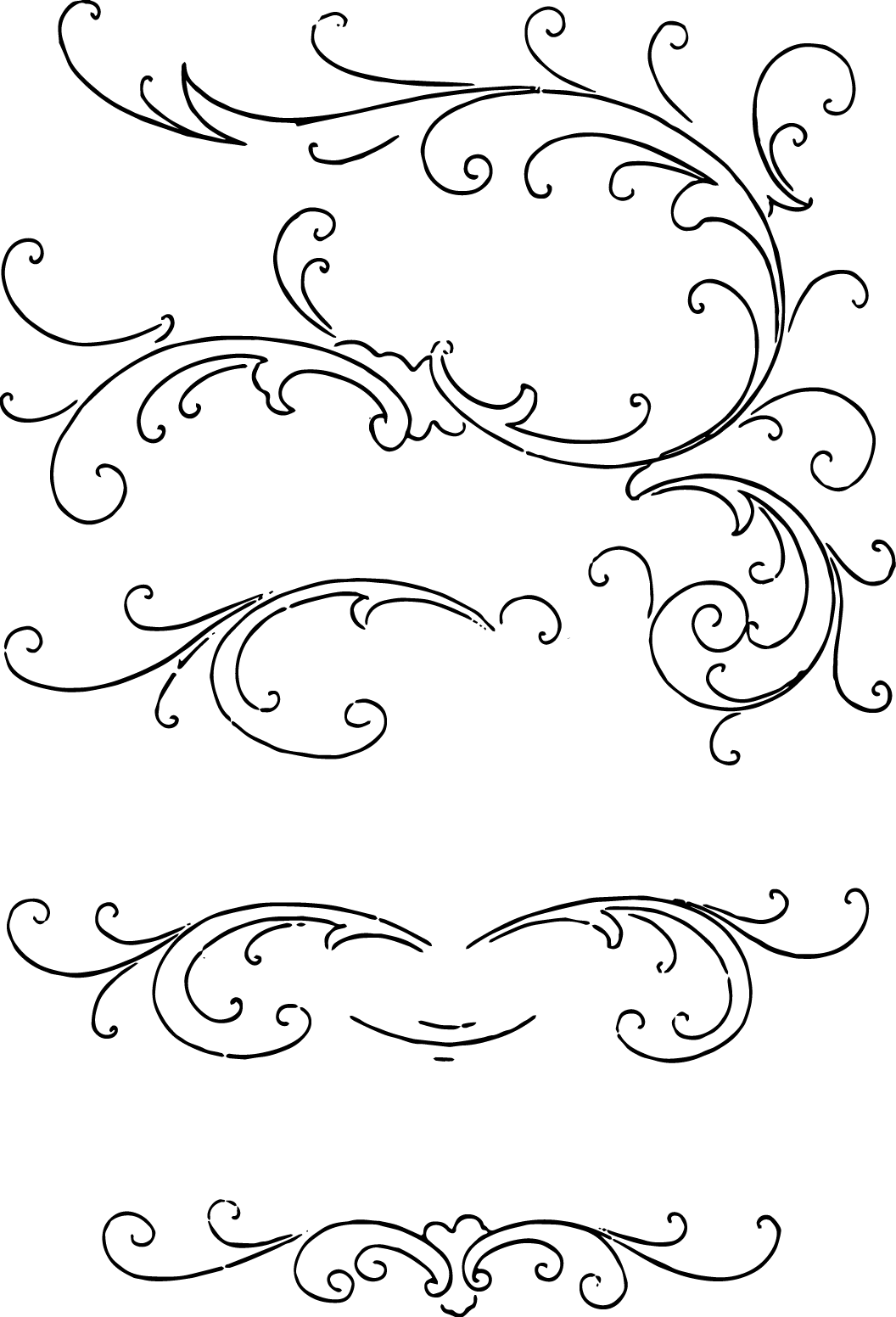 calligraphy vector flourishes