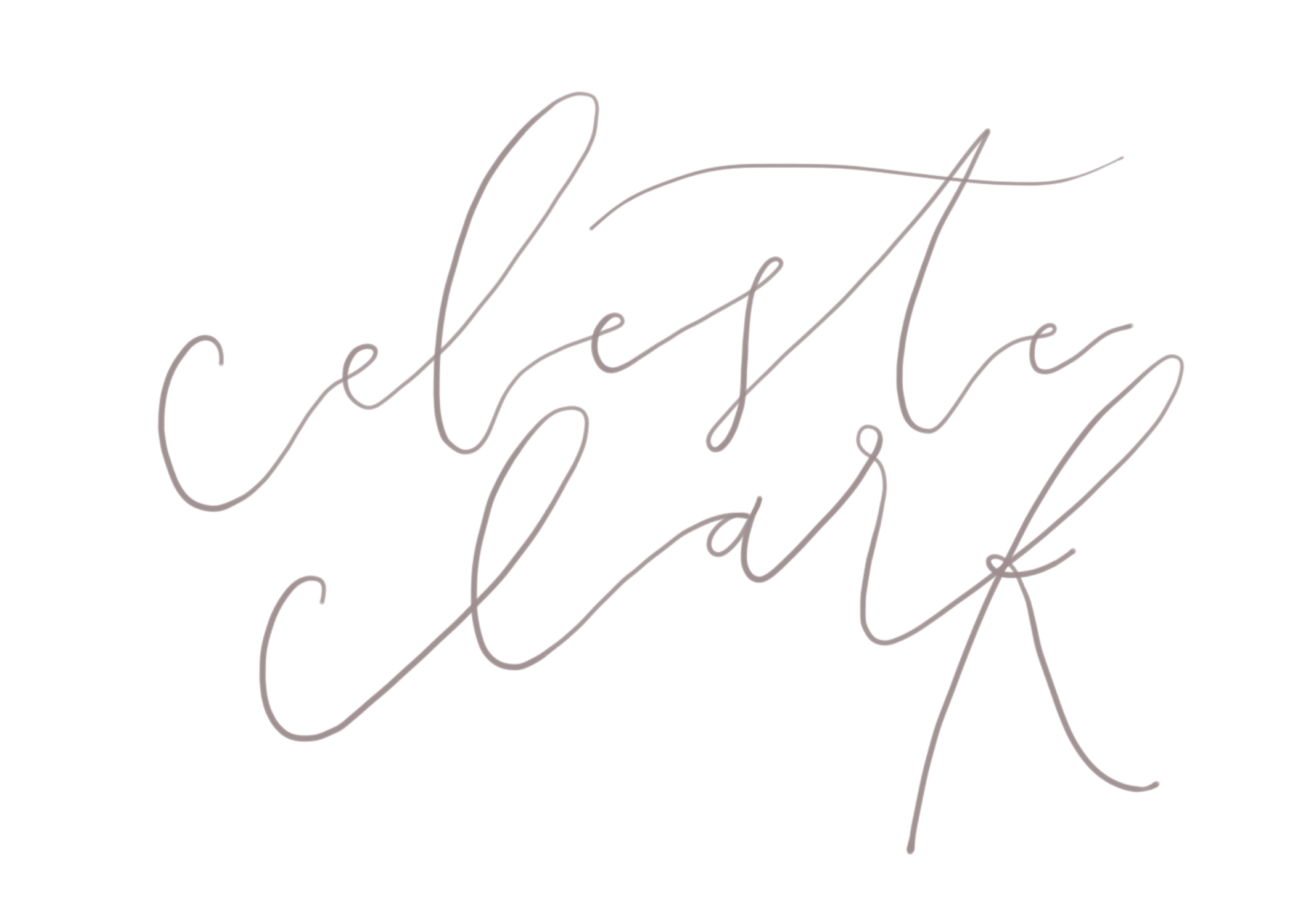 Vector underline calligraphy. Hand lettered quotes celeste