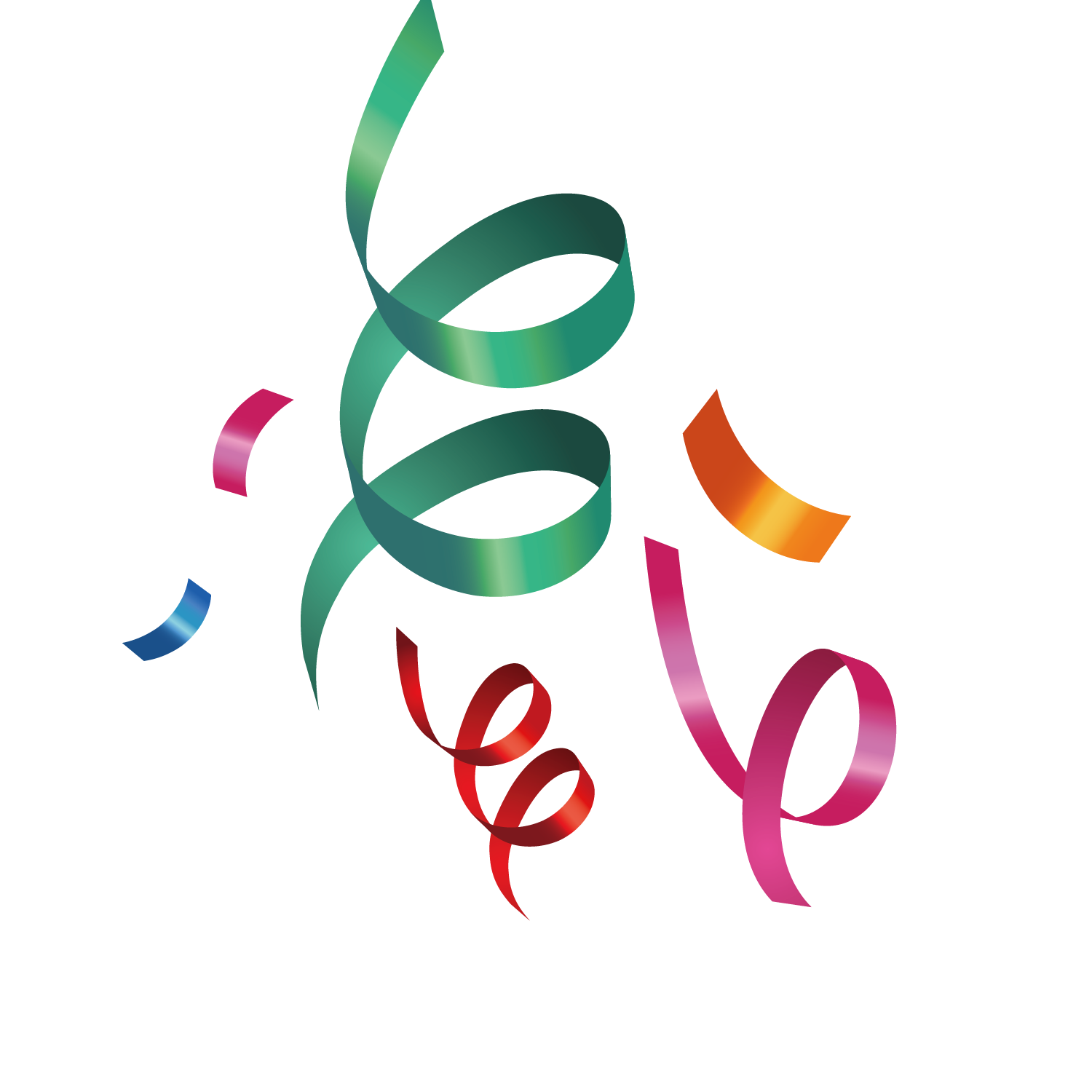 Calligraphy vector ribbon. Festival color transprent png