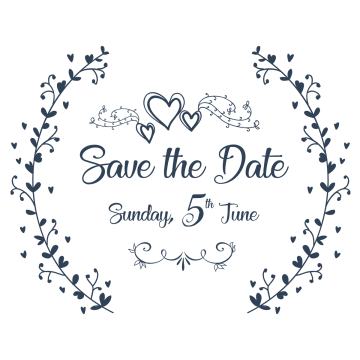 Calligraphy vector save the date. Png images vectors and